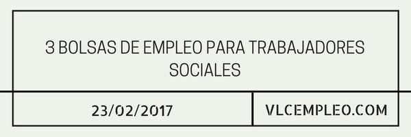 empleo para trabajadores sociales
