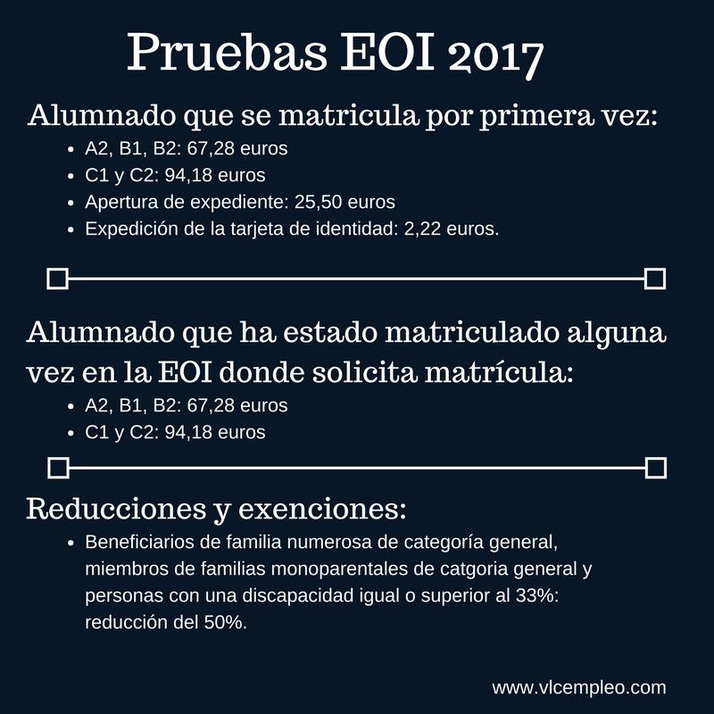 pruebas de certificación de la EOI 2017
